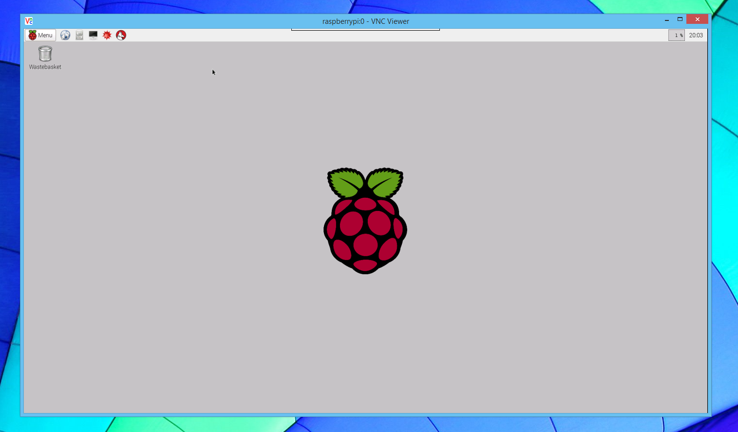 Connected to Raspberry Pi  with VNC Viewer